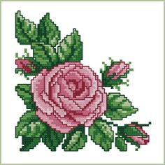 Rose Corner cross stitch designs