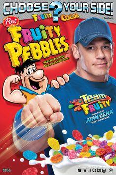 WWE's John Cena is Captain of Team Fruity Pebbles