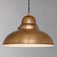 Buy John Lewis Antonio Lamp, Brass, 1 Light from our Ceiling Lighting range at John Lewis & Partners. Natural Light Lamp, Lamp, Pendant Lamp, Living Room Lighting, Lights, Hanging Lights, Brass Lamp, Ceiling Lights, Light Fittings