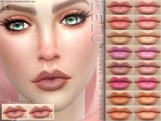 Sims 4 CC's - The Best: Natural Lip Colouring by Screaming Mustard