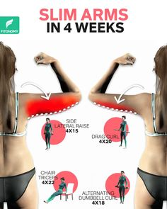 Slim Arms Workout, Full Body Gym Workout, Back Fat Workout, Gym Workout Videos, Gym Workout For Beginners, Fitness Workout For Women, Butt Workout, Ab Workouts, Weight Loss Workout Plan