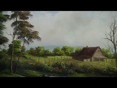 Bill Alexander paints Fall River part 2/3 wet on wet oil painting art - YouTube