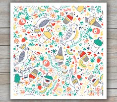 Mek Frinchaboy Illustrations, lettering and #pattern for #kids #fashion brand
