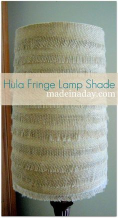 Love how she used burlap to create the fringed texture.