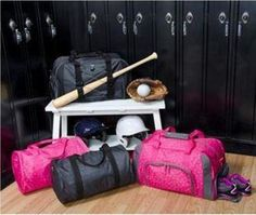 Introducing Jr. Rec. Duffle and Pro. Duffle! Shown in Pink Lotsa Dots and Black Cross Pop. Available in April!