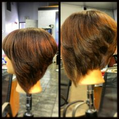 Short Stacked bob with layers