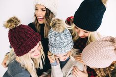 White Heathered Knit Beanie  | ROOLEE