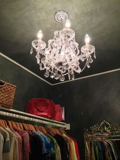 Awesome Closet Chandelier And Wall Colors Awesome
