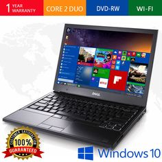 "DELL LAPTOP LATiTUDE WINDOWS 10 DVDRW HD WiFi NOTEBOOK PC COMPUTER 13"""
