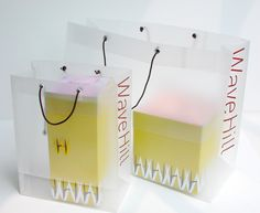 More materials ideas: I LOVE the idea of having a simple transparent bag and wild inner packaging that shows through. Paper Packaging, Bag Packaging, Packaging Design, Shopping Bag Design, Transparent Bag, Diy Garden Decor, Retail Design, Tissue Paper, Floral Arrangements