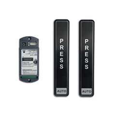 Wireless push button (press button) activation switch for automatic door opening. Stick to handy place, no cabling required. Control Unit, Access Control, Pearl River Delta, Automatic Sliding Doors, Diy Picnic Table, Sliding Door Design, Glass Door, Hardware, The Unit