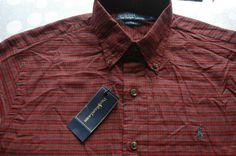 £110 POLO RALPH LAUREN CUSTOM FIT SPORT TWILL RED BLACK CHECK SHIRT XL