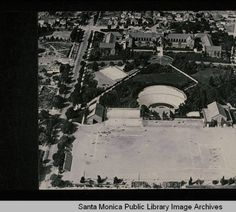 Greek Theatre and playing fields at Santa Monica High School, 1924
