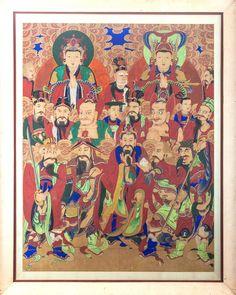 Korean painting with Buddhist deities. Late 19th century.