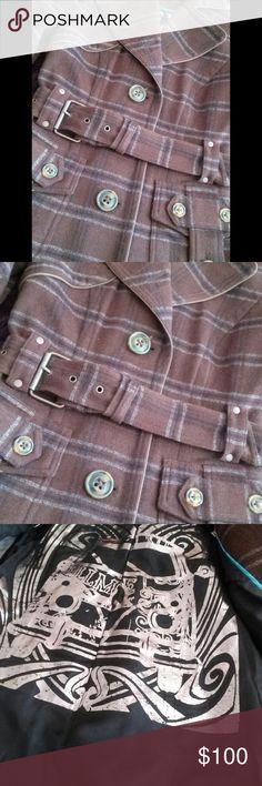 BLAZER WOOL by Millard Fillmore Millard Fillmore Wool Blazer. Brown & Gray. Mint Condition. Jackets & Coats Blazers