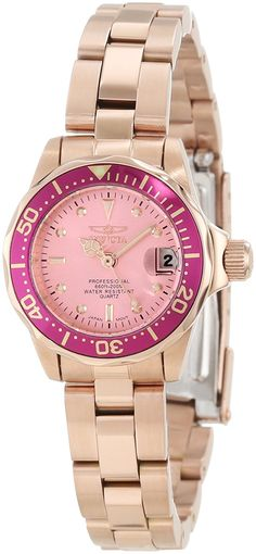 Invicta Women's 12529 Pro-Diver Pink Dial Watch * Find out more about the great product at the image link.