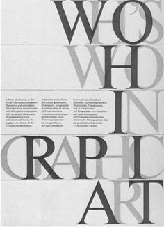 Who's who in graphic art #poster #typography #serif