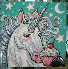 Cupcake Unicorn  painted by Dawn Tarr