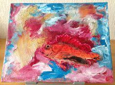 Vis, acryl op canvas, 24x30, 2014 (out)