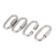 uxcell 6mm Thickness 304 Stainless Steel Quick Oval Link Lock Carabiner 4 Pcs ** Find out more about the great product at the image link.Note:It is affiliate link to Amazon.