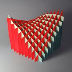 "Just because I like it!  In my spare time (???) I google images and this one caught my eye... ""Planar studies of mathematical models from paper sections using sliceforms -asliceform is a 3D shape which is assembled from flat slices forming a light-weight gridstructure"". Found :sculpturecourse.wordpress.com"