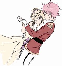 ''Princess Lucy. Can i have this dance?'' A boy with sikey green hair asked. Lucy nodded hesitatingly but before she reached the man's hand someone pushed her. She almost fel but someone caught her. It whas a boy with straggly pink hair. Prince Natsu Dragneel