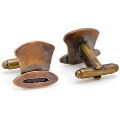 Dreadnought Workshop Bronze Top Hat Cufflinks