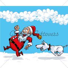 Cartoon Santa With A White Beard. Running From . Christmas Cartoon Pictures, Christmas Cartoons, Cartoon Pics, Disney Characters, Fictional Characters, Santa, Running, Dibujo, Keep Running