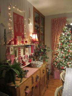 festive dresser dots and spots
