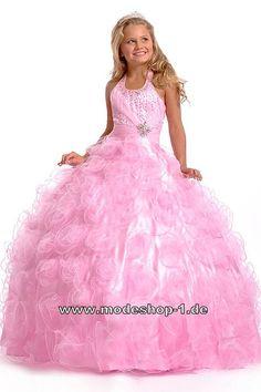 Prinzessin Mulan Ballkleid Abendkleid für Mädchen Rosanes Blumenmädchenkleid  www.modeshop-1.de