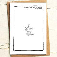 Congratulations on having a birthday, hidden twat - Brutally Honest Cards | Everyone has one | Passive aggressive birthday card by iamstevestewart on Etsy