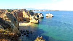 Praia do Pinhão em Lagos, Região do Algarve, Portugal