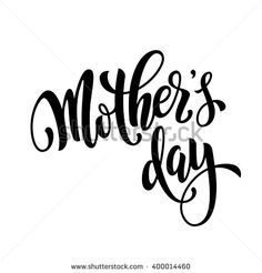 Mothers Day vector greeting card. Hand drawn calligraphy lettering title.