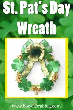 Crafty Home Decor St. Patrick's Day Shamrock Wreath