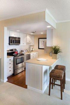 beautiful small kitchen and bar