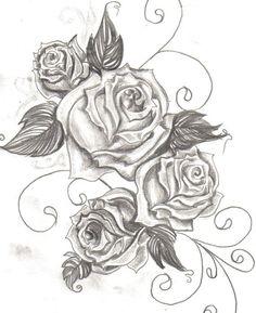 rose tattoo on thigh Trendy Tattoos, Cute Tattoos, Beautiful Tattoos, Flower Tattoos, Awesome Tattoos, Beautiful Roses, Tatoos, Rose Vine Tattoos, Swirl Tattoo