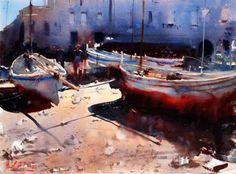 watercolor by Alvaro Castagnet (b. 1954, Australia)