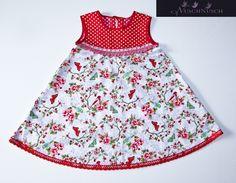 """Das Kleid aus meine neue """"City Girl"""" Kollektion. Wunderschöne starke Farben. Niedliches bequemes Modell.  Das Kleid gibt es in Größe 56,62,68,74,80,86"""