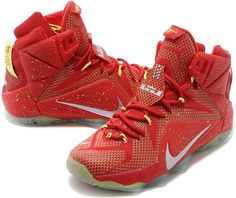 Nike LeBron 12 Red Volt Silver For Sale1
