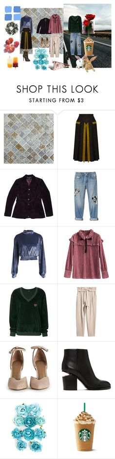 """""""Sem título #171"""" by limitless-729 on Polyvore featuring moda, Marco de Vincenzo, Ralph Lauren Black Label, Disney, WithChic, Yeezy by Kanye West, Alexander Wang e Blue Squares"""