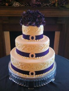 Scroll Wedding Cake By Sherry's Sweet Shop on CakeCentral.com