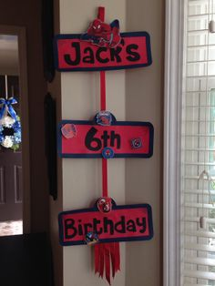 SpiderMan Happy Birthday Party Sign for Kids by DecorationsbyGERI, $18.00
