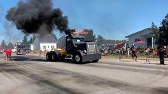Chauffé les pneus à la foire du camionneur Barraute 2016