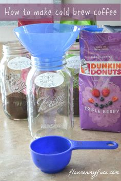 How to make Cold Brewed Iced Coffee concentrate for homemade Cold Brewed Iced Coffee. You can used flavored coffee or your favorite ground coffee brand.