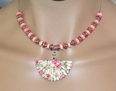 Fantastic Pink Flower Beaded Victorian Style by MyJannyMarie, $23.99