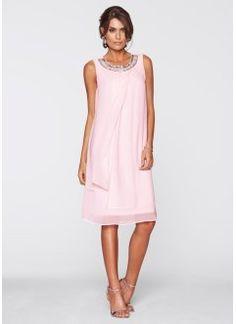 Klänning med applikation, bpc selection premium, ljusrosa