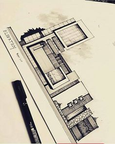 Unbelievable Modern Architecture Designs – My Life Spot Architecture Concept Drawings, Architecture Sketchbook, Amazing Architecture, Art And Architecture, Sketches Arquitectura, Elevation Drawing, Appartement Design, Interior Sketch, Facade Design