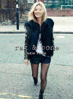 Rag & Bone Fall 2012: Kate Moss by Craig McDean