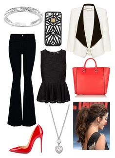 """Office day"" by agu-bernardez on Polyvore featuring moda, STELLA McCARTNEY, Alice + Olivia, Vero Moda, Christian Louboutin, Rebecca Minkoff, Hervé Léger y Swarovski"