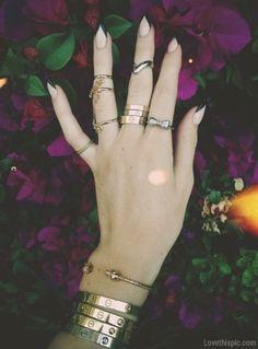 nails nails jewelry bracelets gold rings nail art SKULL BRACELET